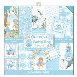 Stamperia - Double-Sided 12 x 12 Inch Paper Pack - Baby Boy